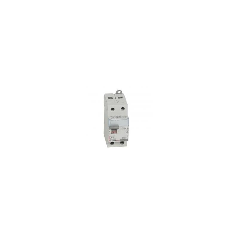 Interrupteur différentiel DX³-ID arrivée haute et départ bas à vis - 2P 230V~ 25A typeAC 300mA - 2 modules LEGRAND