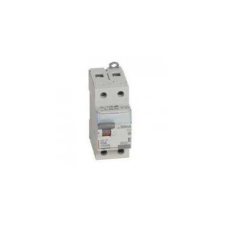 Interrupteur différentiel DX³-ID arrivée haute et départ bas à vis - 2P 230V~ 63A typeAC 300mA - 2 modules LEGRAND