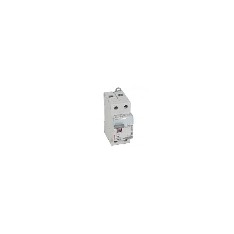Interrupteur différentiel DX³-ID arrivée haute et départ bas à vis - 2P 230V~ 80A typeAC 300mA - 2 modules LEGRAND