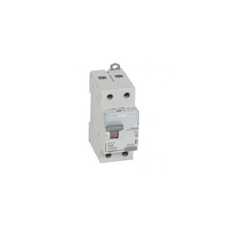 Interrupteur différentiel DX³-ID vis/vis - 2P 230V~ 16A type A 10mA - 2 modules LEGRAND