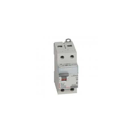 Interrupteur différentiel DX³-ID vis/vis - 2P 230V~ 25A type A 30mA - 2 modules LEGRAND