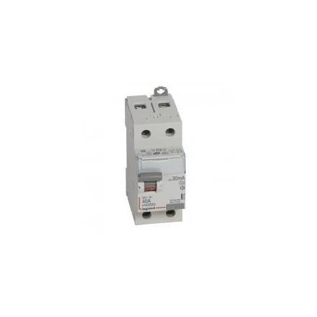 Interrupteur différentiel DX³-ID vis/vis - 2P 230V~ 40A type A 30mA - 2 modules LEGRAND