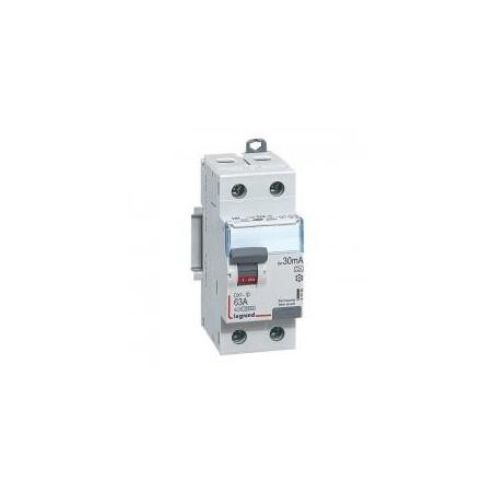 Interrupteur différentiel DX³-ID vis/vis - 2P 230V~ 63A type A 30mA - 2 modules LEGRAND