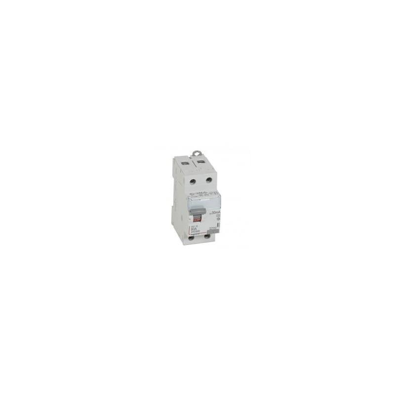 Interrupteur différentiel DX³-ID vis/vis - 2P 230V~ 80A type A 30mA - 2 modules LEGRAND