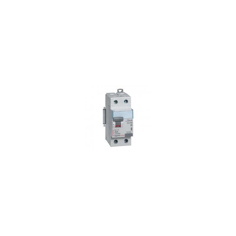 Interrupteur différentiel DX³-ID vis/vis - 2P 230V~ 40A type F 30mA - 2 modules LEGRAND