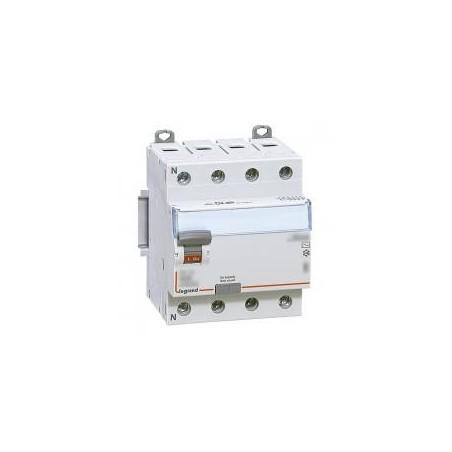 Interrupteur différentiel DX³-ID vis/vis - 4P 400V~ 63A type AC 300mA - 4 modules LEGRAND