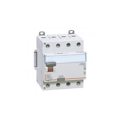 Interrupteur différentiel DX³-ID vis/vis - 4P 400V~ 25A type A 30mA - 4 modules LEGRAND
