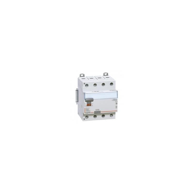 Interrupteur différentiel DX³-ID vis/vis - 4P 400V~ 40A type A 30mA - 4 modules LEGRAND