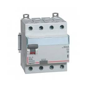 Interrupteur différentiel DX³-ID vis/vis - 4P 400V~ 63A type A 30mA - 4 modules LEGRAND