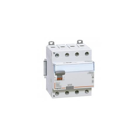 Interrupteur différentiel DX³-ID vis/vis - 4P 400V~ 63A type A 300mA - 4 modules LEGRAND