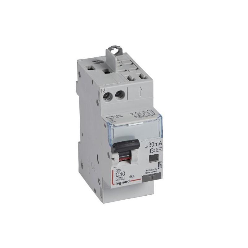 Disjoncteur différentiel U+N 230V~ - 40A typeAC 30mA - 2 modules - vis/auto - DX³4500 LEGRAND
