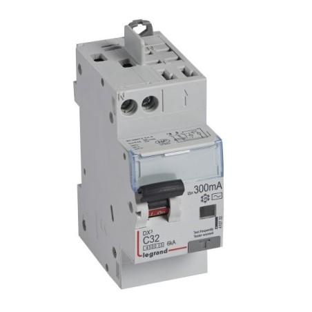 Disjoncteur différentiel U+N 230V~ - 32A typeAC 300mA - 2 modules -- vis/auto - DX³4500 LEGRAND