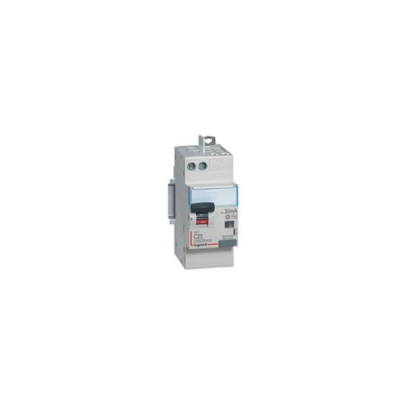 Disjoncteur différentiel U+N 230V~ - 25A typeAC 30mA - 2 modules - vis/auto - DX³4500 LEGRAND