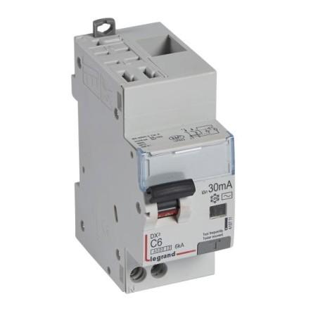 Disjoncteur différentiel U+N 230V~ - 6A typeAC 30mA - 2 modules - auto/vis - DX³4500 LEGRAND