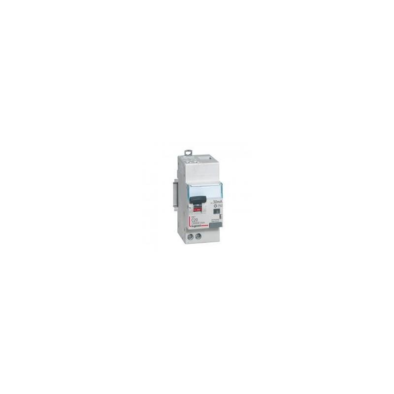 Disjoncteur différentiel U+N 230V~ - 20A typeAC 30mA - 2 modules - auto/vis - DX³4500 LEGRAND