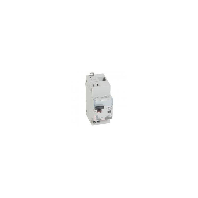 Disjoncteur différentiel U+N 230V~ - 32A typeAC 30mA - 2 modules - auto/vis - DX³4500 LEGRAND