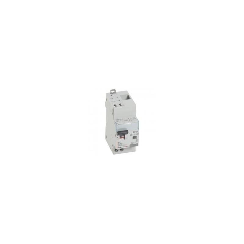 Disjoncteur différentiel U+N 230V~ - 10A typeF 30mA - 2 modules - auto/vis - DX³4500 LEGRAND
