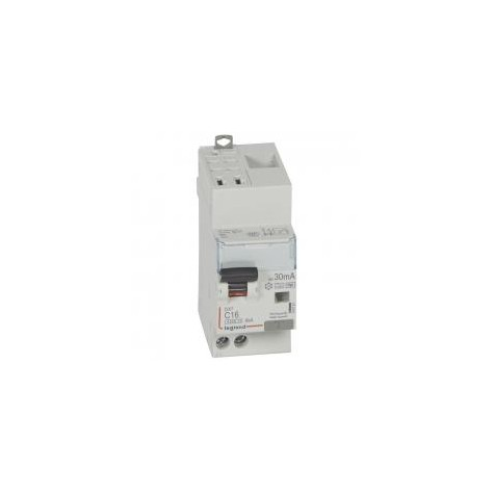 Disjoncteur différentiel U+N 230V~ - 16A typeF 30mA - 2 modules - auto/vis - DX³4500 LEGRAND