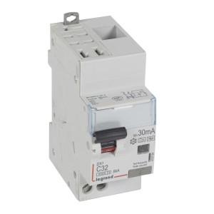 Disjoncteur différentiel U+N 230V~ - 32A typeF 30mA - 2 modules - auto/vis - DX³4500 LEGRAND
