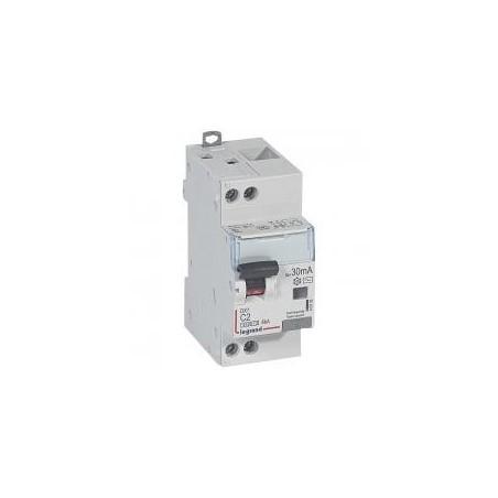 Disjoncteur différentiel U+N 230V~ - 2A typeAC 30mA - courbe C - 2 modules - vis/vis- DX³4500 LEGRAND