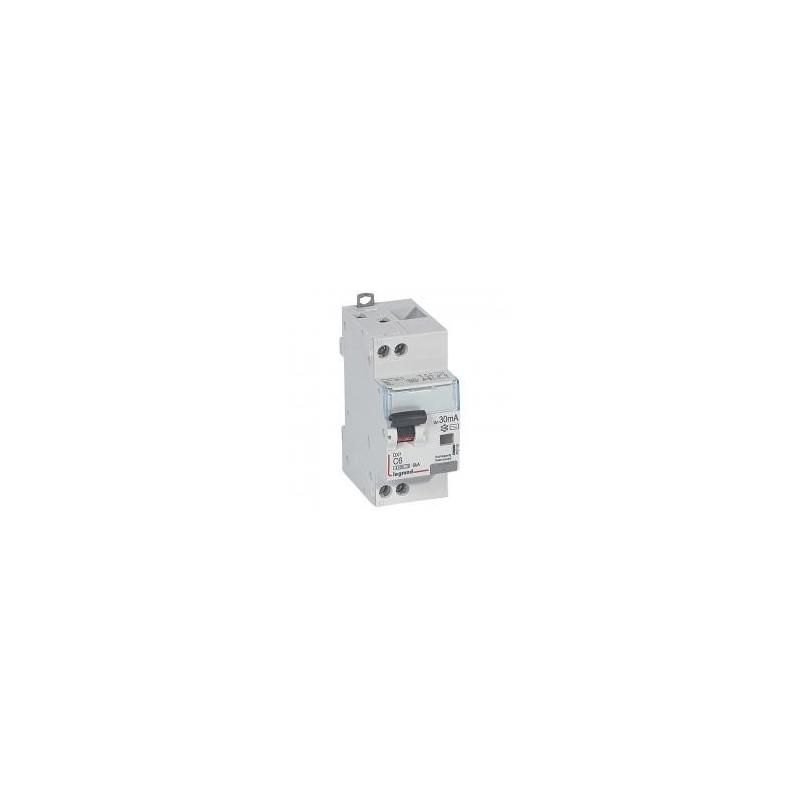 Disjoncteur différentiel U+N 230V~ - 6A typeAC 30mA - courbe C - 2 modules - vis/vis - DX³4500 LEGRAND