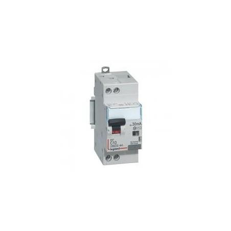 Disjoncteur différentiel U+N 230V~ - 10A typeAC 30mA - courbe C - 2 modules - vis/vis - DX³4500 LEGRAND