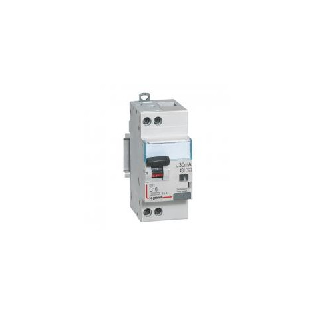 Disjoncteur différentiel U+N 230V~ - 16A typeAC 30mA - courbe C - 2 modules - vis/vis - DX³4500 LEGRAND