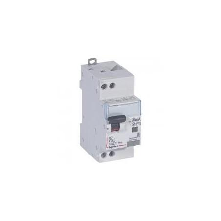 Disjoncteur différentiel U+N 230V~ - 25A typeAC 30mA - courbe C - 2 modules - vis/vis - DX³4500 LEGRAND