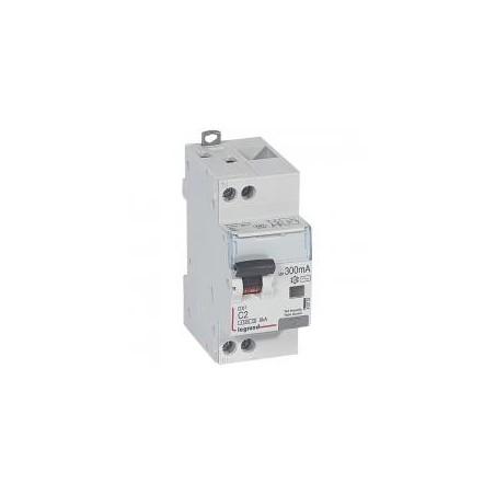 Disjoncteur différentiel U+N 230V~ - 2A typeAC 300mA - courbe C - 2 modules - vis/vis - DX³4500 LEGRAND