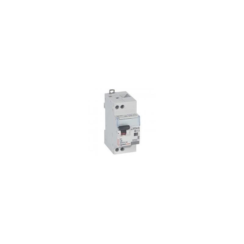 Disjoncteur différentiel U+N 230V~ - 6A typeAC 300mA - courbe C - 2 modules - vis/vis - DX³4500 LEGRAND