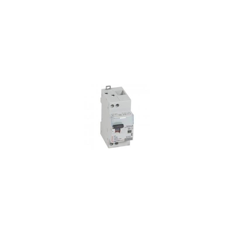 Disjoncteur différentiel U+N 230V~ - 20A typeAC 300mA - courbe C - 2 modules - vis/vis - DX³4500 LEGRAND
