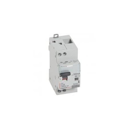 Disjoncteur différentiel U+N 230V~ - 25A typeAC 300mA - courbe C - 2 modules - vis/vis - DX³4500 LEGRAND