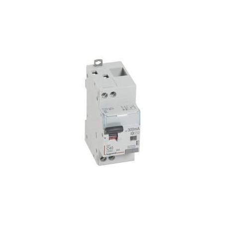 Disjoncteur différentiel U+N 230V~ - 40A typeAC 300mA - courbe C - 2 modules - DX³4500 LEGRAND