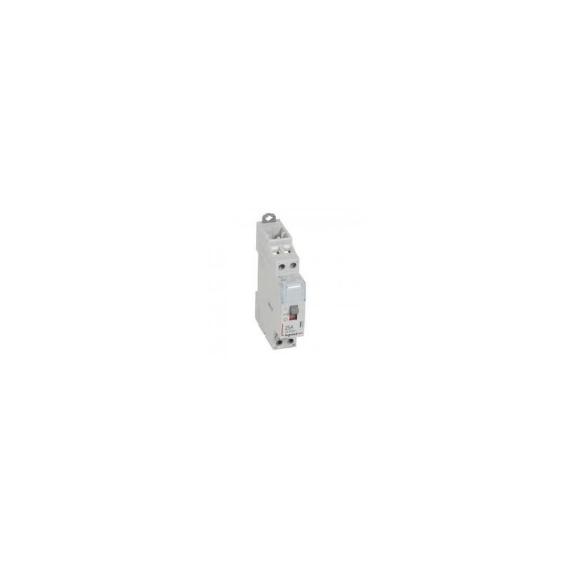 Contacteur de puissance CX³ commande manuelle bobine 24V~ - 2P 250V~ - 25A - contact 2F - 1 module LEGRAND