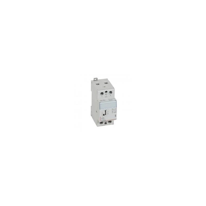 Contacteur de puissance CX³ commande manuelle bobine 24V~ - 2P 250V~ - 40A - contact 2F - 2 modules LEGRAND