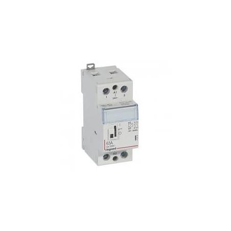 Contacteur de puissance CX³ commande manuelle bobine 24V~ - 2P 250V~ - 63A - contact 2F - 2 modules LEGRAND