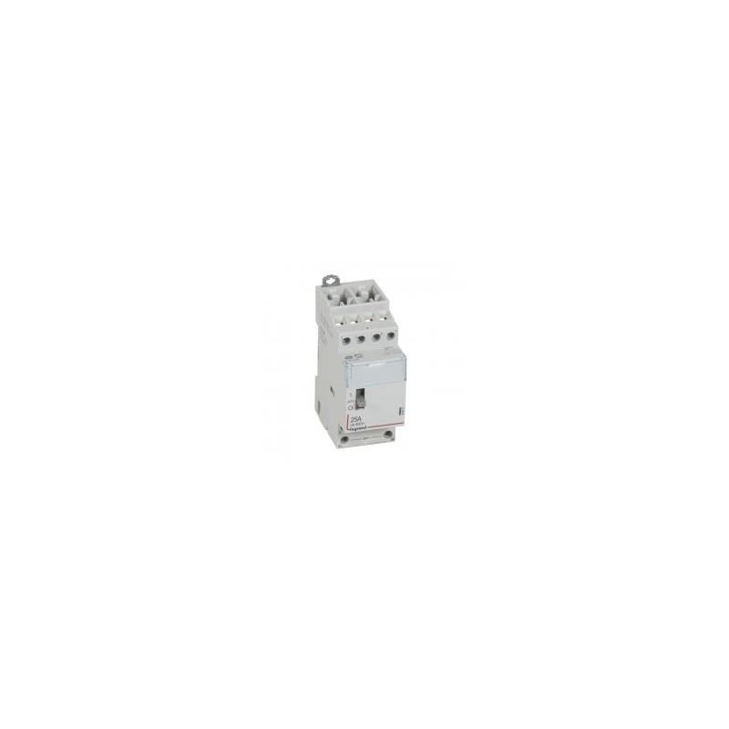 Contacteur de puissance CX³ commande manuelle bobine 24V~ - 2P 400V~ - 25A - contact 4F - 2 modules LEGRAND