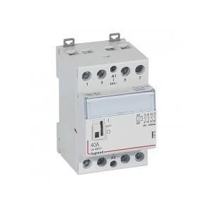 Contacteur de puissance CX³ commande manuelle bobine 24V~ - 2P 400V~ - 40A - contact 4F - 2 modules LEGRAND