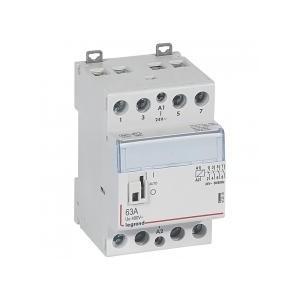 Contacteur de puissance CX³ commande manuelle bobine 24V~ - 2P 400V~ - 63A - contact 4F - 2 modules LEGRAND