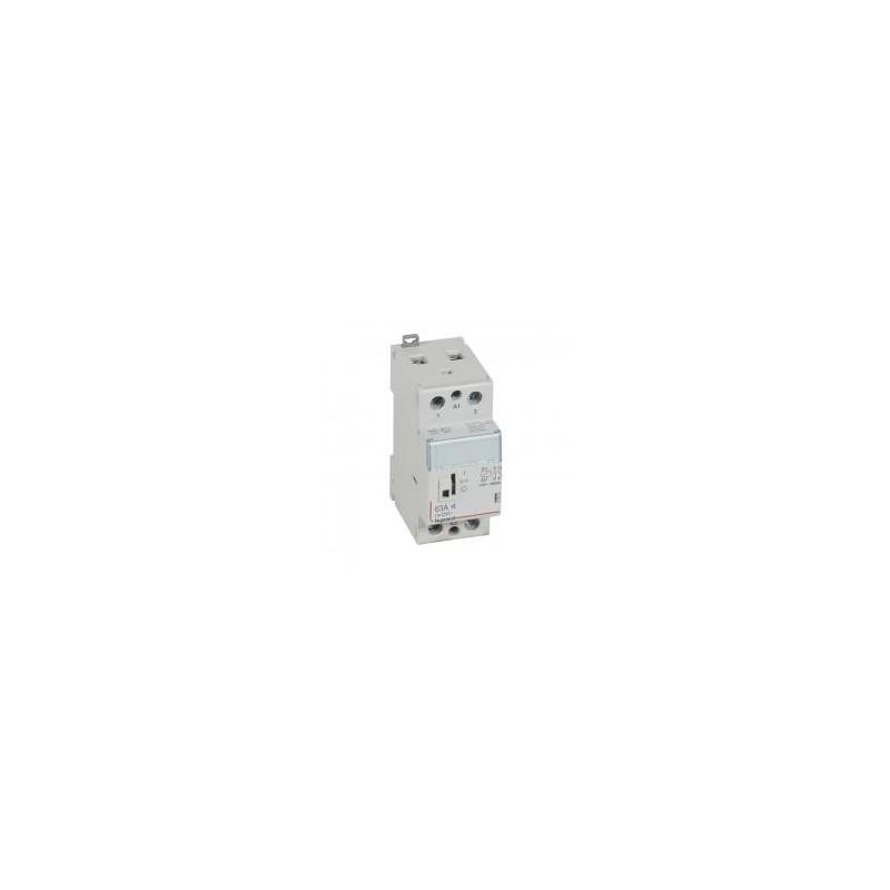 Contacteur de puissance CX³ silencieux bobine 230V~ - 2P 250V~ - 63A - contact 2F - 2 modules LEGRAND