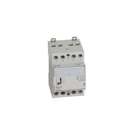 Contacteur de puissance CX³ silencieux bobine 230V~ - 4P 400V~ - 40A - contact 4F - 3 modules LEGRAND