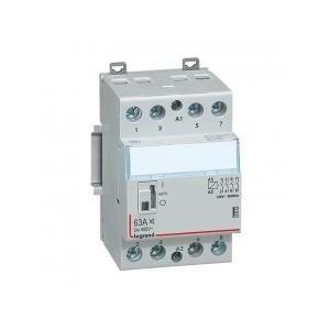 Contacteur de puissance CX³ silencieux bobine 230V~ - 4P 400V~ - 63A - contact 4F - 3 modules LEGRAND