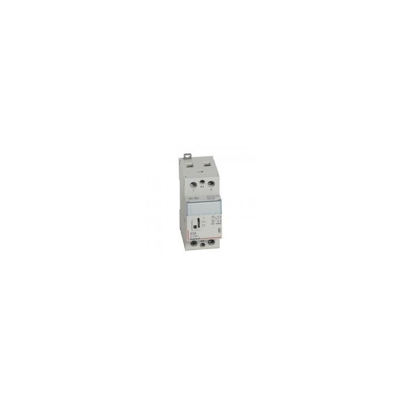 Contacteur de puissance CX³ bobine 230V~ - 2P 250V~ - 63A - contact 2F - 2 modules LEGRAND