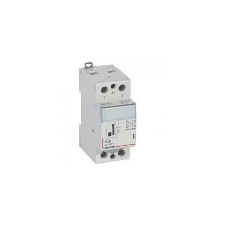 Contacteur de puissance CX³ bobine 230V~ - 2P 250V~ - 63A - contact 2O - 2 modules LEGRAND