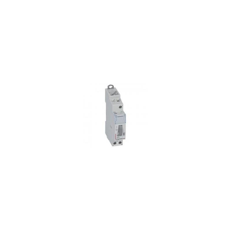 Télérupteur CX³ standard avec bornes à vis 1P 16A 250V~ contact 1F - tension commande 12V~ - 1 module LEGRAND