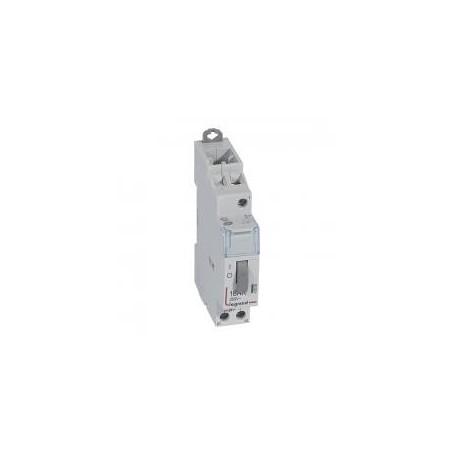 Télérupteur standard avec bornes à vis 1P 16A 250V~ contact 1F - tension commande 24V~ - 1 module LEGRAND