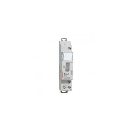 Télérupteur standard avec bornes à vis 1P 16A 250V~ contact 1F - tension commande 230V~ - 1 module LEGRAND