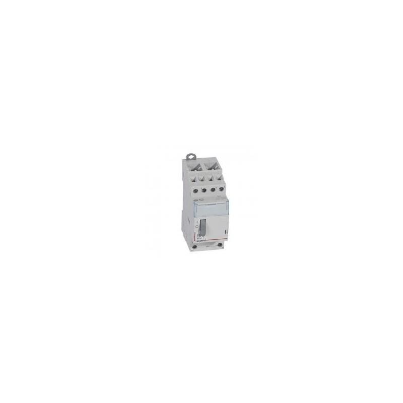 Télérupteur standard avec bornes à vis 4P 16A 400V~ contact 4F - tension commande 24V~ - 2 modules LEGRAND