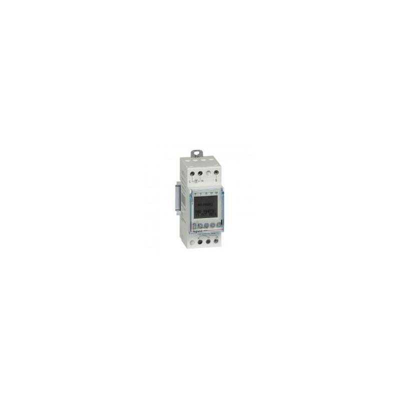 Interrupteur horaire programmable pour illuminations extérieures - 1 sortie 16A 250V~ - 2 modules LEGRAND