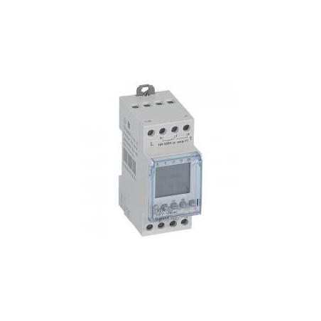 Interrupteur horaire programmable pour illuminations extérieures - 2 sorties 16A 250V~ - 2 modules LEGRAND